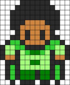 Prince Naveen - The Princess and the Frog perler bead pattern