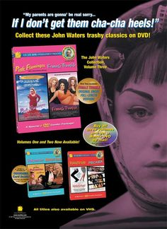 John Waters Collection Consumer Ad, New Line Home Entertainment. #kevineatonindustries