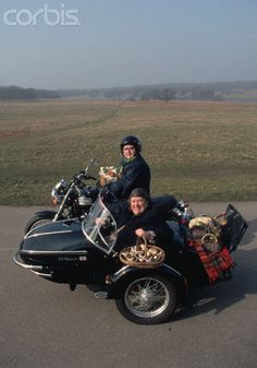 Two Fat Ladies - In Jennifer's fantastic Triumph motorbike!