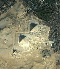 Earth from Space Image Gallery | Bird's view of the Giza plateau, Egypt.