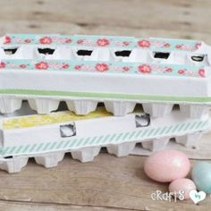 Decorative Easter Egg Carton Craft submitted to InspirationDIY.com