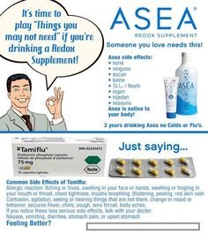 asea, health, wellness, colds, flu, tamiflu, side effects, redox signaling molecules