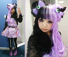 lolita (getting some hair ideas for a Halloween coord! Pastel Goth Fashion, Kawaii Fashion, Punk Fashion, Lolita Fashion, Creepy Cute Fashion, Gothic Lolita, Gothic Hair, Lolita Style, Gothic Makeup