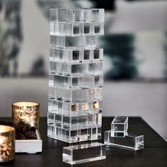 """Deco Stacking Game a global phenomenon of the that was first sold at Harrods, Jenga was invented in Ghana and means """"to build"""" in Swahili."""