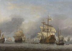 Michiel de Ruyter begon als normale zeeman. Toen hij 30 werd was hij al gepromoveerd naar Kapitein, en later als eigen meester. Op dit plaatje zie je dat de Nederlands schepen de Engelse schepen aanvallen met als admiraal Michiel de Ruyter. Ze wonnen de zeeslag.