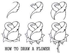 how to draw a flower - Google Search