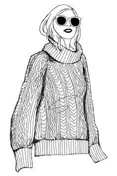 Fisherman Sweater sketch by Emilee Anne