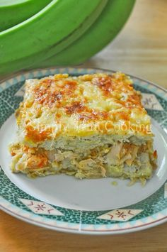 Green Fig and Saltfish Pie