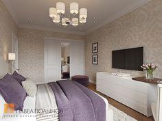 Интерьер спальни в стиле американской неоклассики