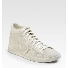 f401e67432 Converse perforated white high tops