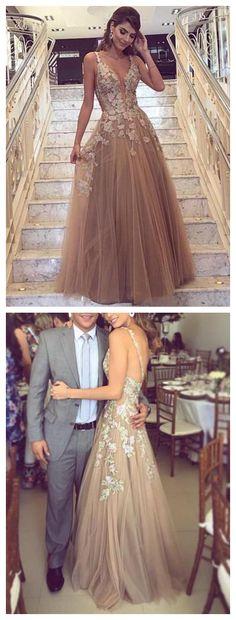 A line Prom Dress,Champagne Prom Dress,Prom Dress With Straps,Long Prom Dress,Cheap Prom Dress #amyprom #longpromdress #2018prom #promdress