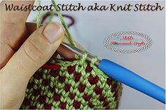 The most popular and trending crochet stitch is explained here. The Waistcoat aka Knit crochet stitch is easy to learn and can be used for many patterns.