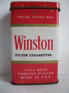 """WINSTON"" Cigarette tin"