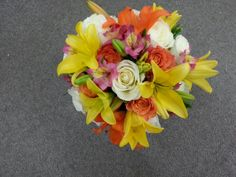 Lily rose and alsto bouquet