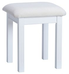 Chantilly White Painted Dressing Stool