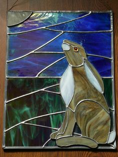 Gazing Hare Stained Glass Panel More