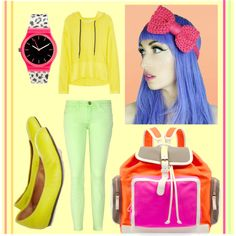 from Polyvore - Runway to Realway: Neon  Adding a bit of neon to your outfit can really make it pop! Check out these sophisticated neon pieces that we saw on the runway for Spring 2012.   neons, by rebekitty.polyvore.com