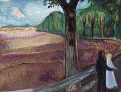 Edvard Munch (Nor. 1863 - 1944) SOMMERNATT (summer night) 1917 Oil on canvas 74.3 by 98.6 cm