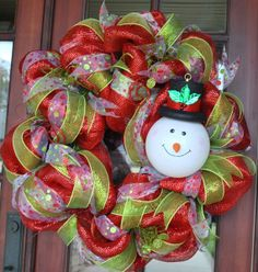 Frosty The Snowman Wreath by AnotherSpecialOccasi on Etsy, $150.00