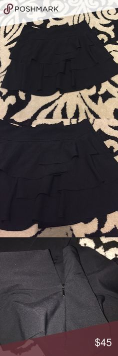 Armani Exchange skirt💥FLASH SALE💥 Black with ruffles, side zipper. Super cute and in perfect condition!! Armani Exchange Skirts Mini