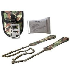 "Amazon.com : SOS GEAR 3 in 1 Emergency Survival Kit - 36"" Pocket Chain Saw in Embroidered Camouflage Pouch - 11 Function Steel Credit Card Multi-Tool - Mylar Emergency Heat Reflecting Blanket 52"" x 84"" : Sports & Outdoors"