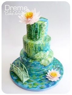 Monet cake - good lord! that is true artistry! #notworthy