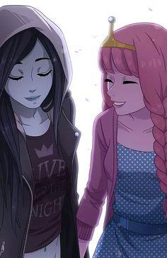 love Adventure Time Bubbline Marceline Princess Bubblegum Yuri shoujo ai