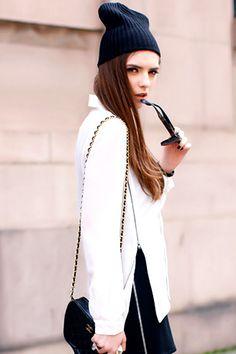 #Romwe Asymmetric Zippered White Shirt