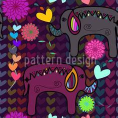 Hindu Love by Anny Cecilia Walter, available as a vector file on patterndesigns.com.