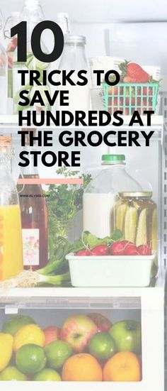 10 tricks to save you money at the grocery store