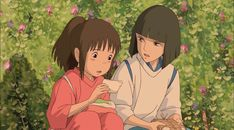 Sen to Chihiro no Kamikakushi, She steals your name Studio Ghibli Art, Studio Ghibli Movies, Anime Kunst, Anime Art, Spirited Away Wallpaper, Studio Ghibli Background, Chihiro Y Haku, Studio Ghibli Spirited Away, Animation