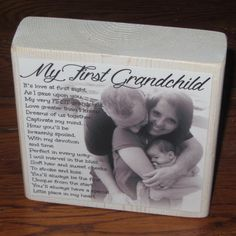 First Grandchild Poem for GRANDMA by WasteNotRecycledArt on Etsy. Grandparents Day, Soft Hair, Large Photos, Crazy People, Almost Always, Bad Timing, Recycled Art, Love At First Sight, Grandchildren