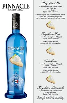 Pinnacle Key Lime Pie Whipped Vodka - A MUST HAVE for every bar!!!