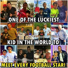 """He is Just 16 years old and already has met all the football legends and many young football stars too!  """