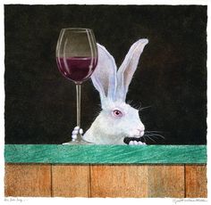 The bar hop. Will Bullas Wine Pics, Sheep Face, Funny Animals, Cute Animals, Pig Art, Rabbit Art, Bunny Art, Mini Paintings, Watercolor Animals