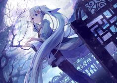 【ღ •´¯`•.. ˹.˹Qυєєи'ѕ Pσѕт˼·˼ ..•`¯´• ღ】 Great picture, the moon looks amazing! Vocaloid || Miku || Type: Fanart Artist: Pixiv Id 7579201 【•´... - QυєєиG ღ (GG) - Google+