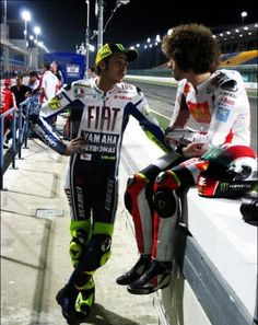 Rossi & Simoncelli. Had Simoncelli still be alive, I think these 2 would have caused some serious upsets this year. As that is not the case, in true Rossi style he starts an Italian Moto3 team.