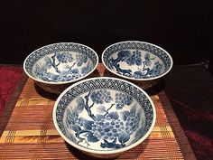 Set-Of-3-Asian-Blue-and-White-Porcelain-Soup-Cereal-Bowls-Marked