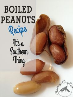 Been hearing about boiled peanuts and how addicting they are. I want to try making them!>>>>Boiled peanuts recipe from Clumsy Crafter Boiled Peanuts Recipe
