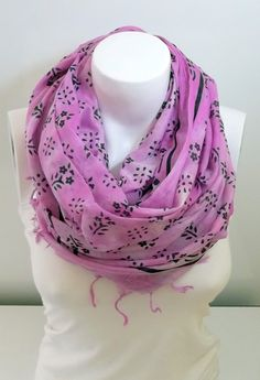 Scarf With Perforated Purble Colour tasseledLoop by BestScarf, $17.90