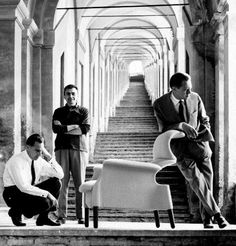 Achille and Pier Giacomo Castiglioni with Sanluca armchair
