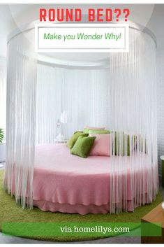 When it comes to bedroom design, a lot of people generally choose the rectangular and square beds. The truth is modern round beds can transform… Shabby Chic Bedrooms, Shabby Chic Furniture, Modern Bedroom, Modern Desk, Bedroom Neutral, Bedroom Designs Images, Girl Bedroom Designs, Bed Designs, Bedroom Sets