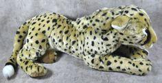 FAO Schwarz Cheetah Stuffed Animal Large Jumbo Realistic Leopard Cat Plush Toy #FAOSchwarz