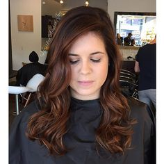 Burnt Cinnamon Balayage.