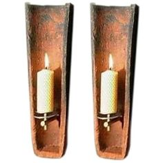 View this item and discover similar wall lights and sconces for sale at - Unique pair of rustic wall lights made from antique roof tiles. Currently fitted with candles, but can be electrified. Not only an interesting conversation Diy Roofing, Modern Roofing, Steel Roofing, Roofing Shingles, Rustic Wall Lighting, Wall Sconce Lighting, Indoor Wall Sconces, Candle Wall Sconces, Clay Roof Tiles