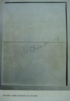Piero Manzoni 1967 Azimut ediz. Vanni Scheiwiller Milano testi A. Agnetti F. Angeli N. Balestrini P. Manzoni E. Paglierini pag. 91 cm. 30,5x21ediz. numerata 700 su 1000 copie)