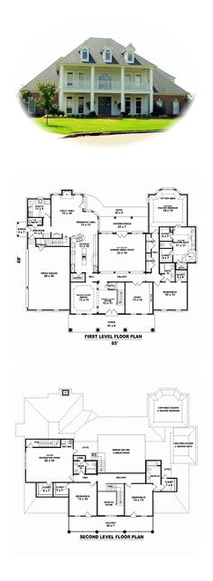 Plantation House Plan 48702 | Total Living Area: 4312 sq. ft., 4 bedrooms and 4.5 bathrooms. #plantationhome
