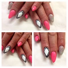 Funky Short Stiletto Nails these