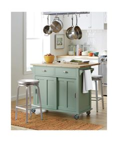 I would love to have this in my kitchen but $500 is steep :( Belmont Mint Kitchen Island | Crate and Barrel