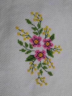 This Pin was discovered by Nes Cross Stitching, Cross Stitch Embroidery, Cross Stitch Patterns, Hand Embroidery, Cross Stitch Rose, Cross Stitch Flowers, Stitch Crochet, Bargello, Baby Knitting Patterns